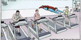 Superman en el gimnasio