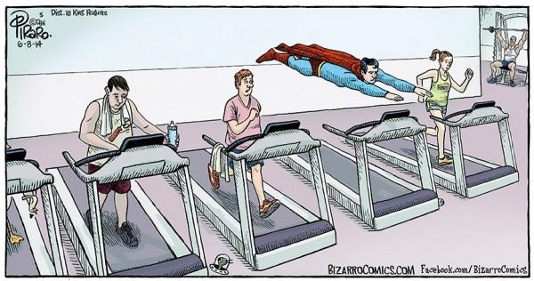 Superman en el gimnasio