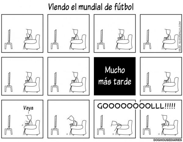Viendo el Mundial de fútbol