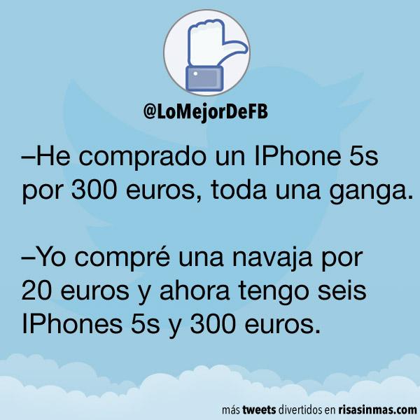 un IPhone 5s por 300 euros