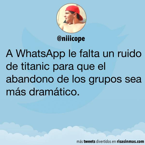 A WhatsApp le falta un ruido