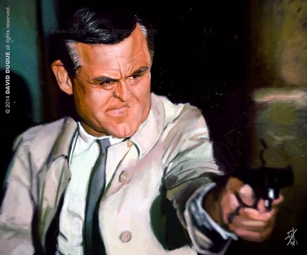 Caricatura de Cary Grant