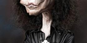 Caricatura de Ronnie James Dio