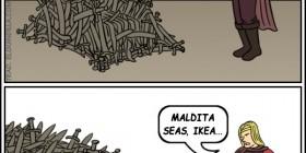 El trono del IKEA