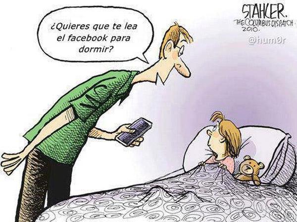 Leer Facebook para dormir