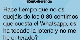 Lo que cuesta el WhatsApp