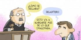 Messi declarando por fraude fiscal