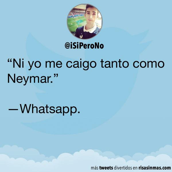 Ni yo me caigo tanto como Neymar