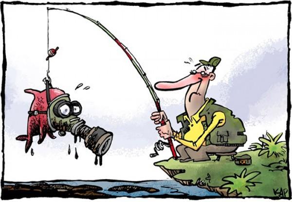Peces contaminados