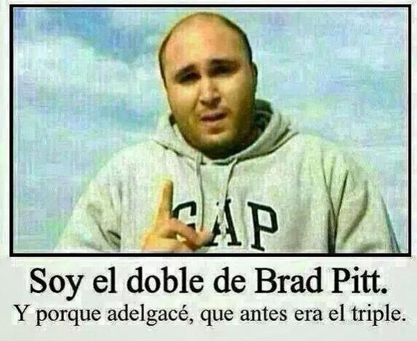 Soy el doble de Brad Pitt
