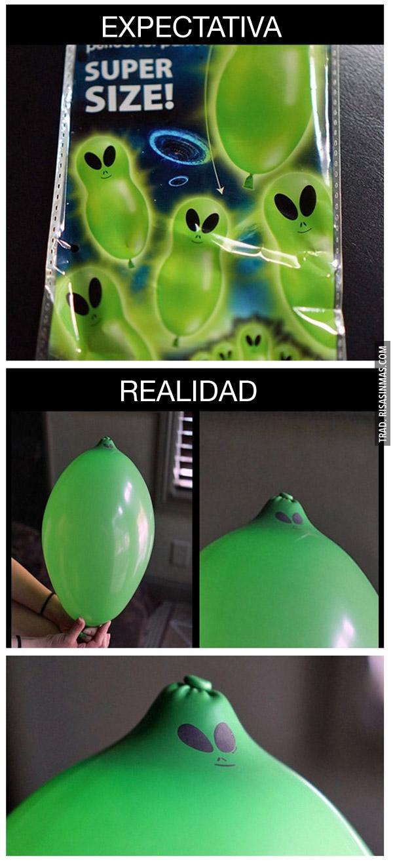 Expectativa y realidad: globos con cara