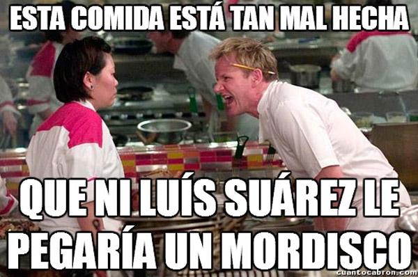Ni Luís Suárez le daría un mordisco