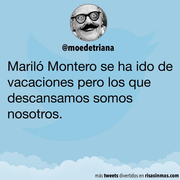 Mariló Montero de vacaciones