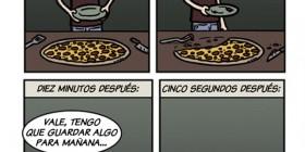 La pizza que sobra