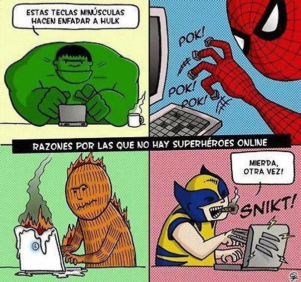 No hay superhéroes online