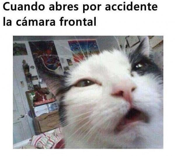 Cuando abres por accidente la cámara frontal