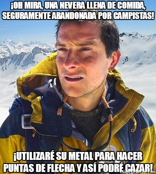 Bear Grylls y la nevera