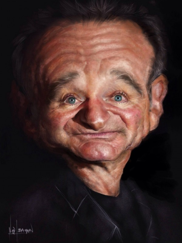 Caricatura de Robin Williams