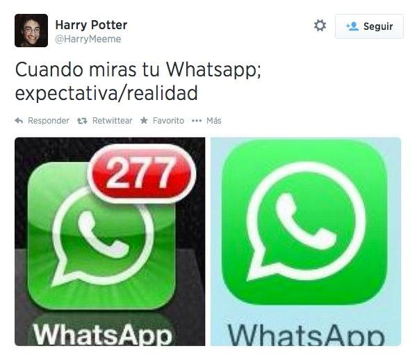 Cuando miras tu WhatsApp