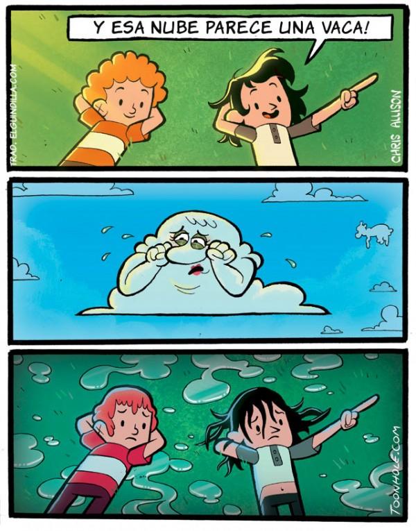 Esa nube parece una vaca