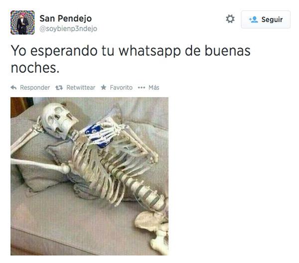 Esperando WhatsApp de buenas noches