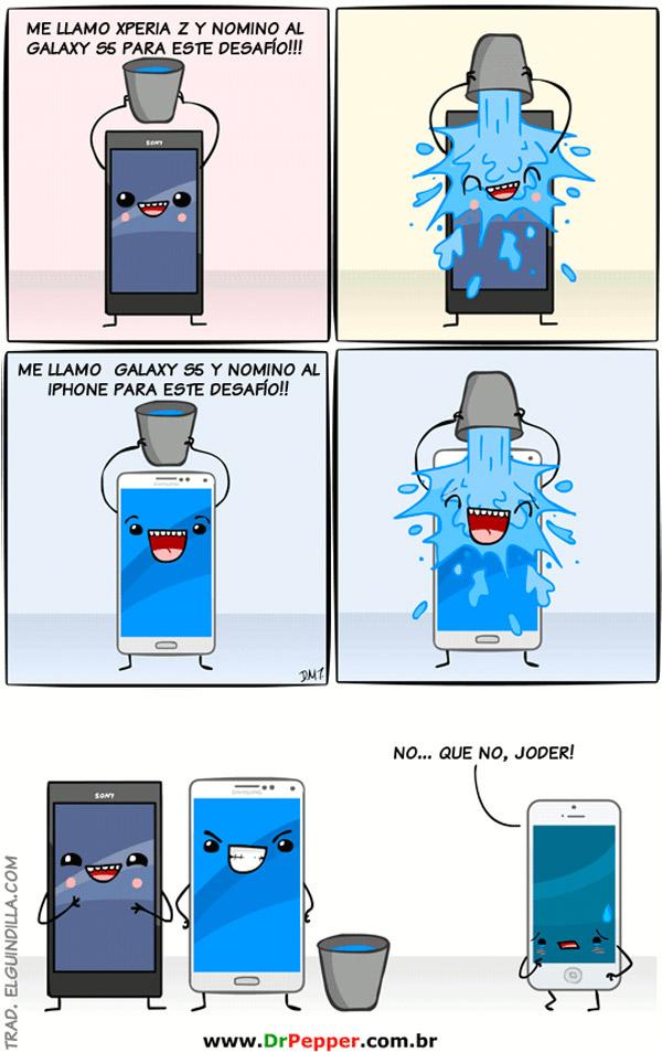 Ice Bucket Challenge entre smartphones