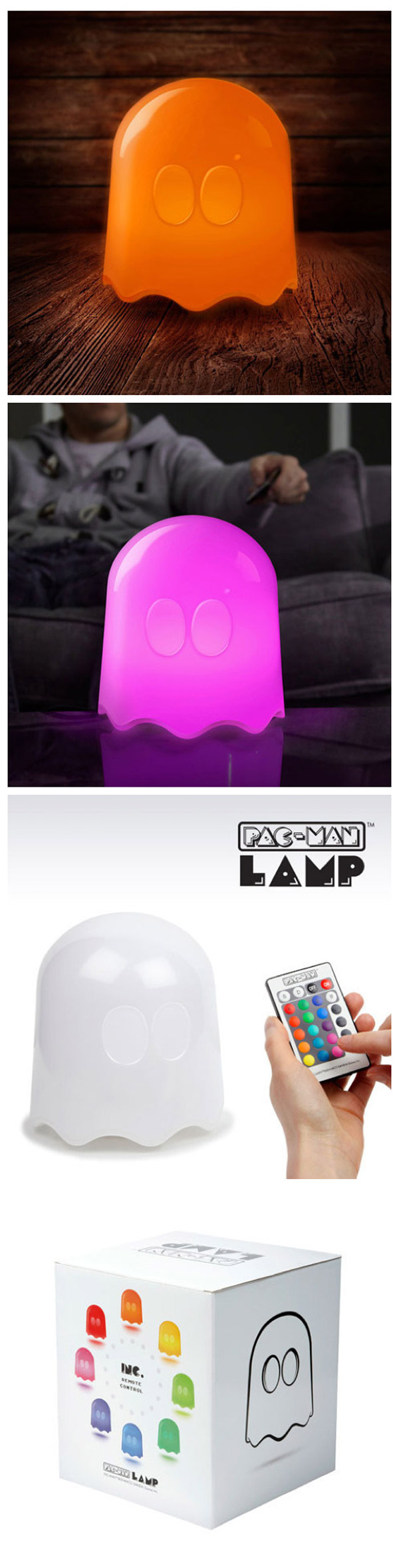 Lámpara fantasma de Pac-Man