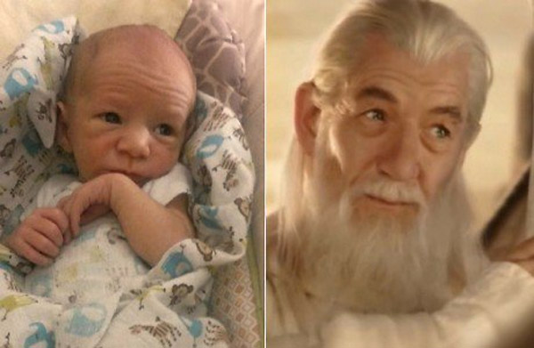 Parecidos razonables: Gandalf y bebé