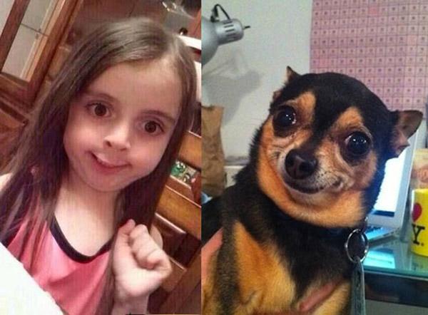 Parecidos razonables: perrete y niña