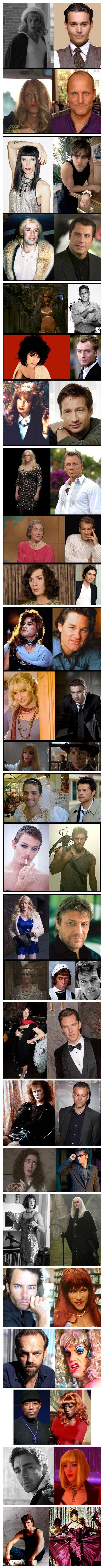 Actores disfrazados de mujer