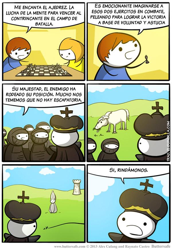 Imaginando una partida de ajedrez