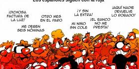 Los españoles siguen con la roja