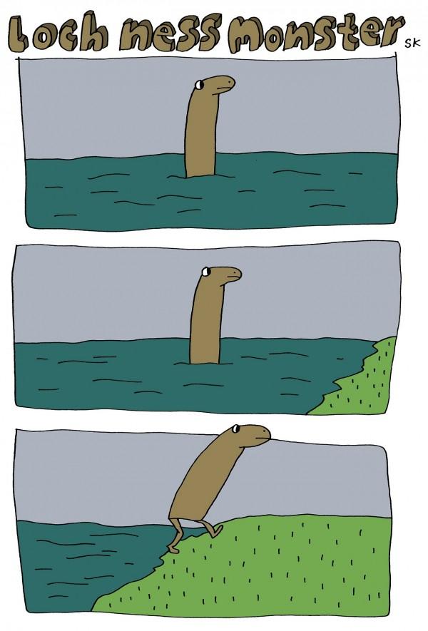 Imagen del monstruo del lago Ness