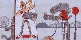 Aliens en un parque de atracciones