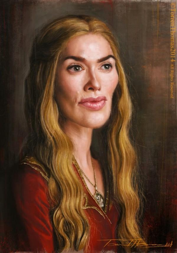 Caricatura de Cersei Lannister
