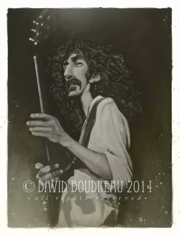 Caricatura de Frank Zappa