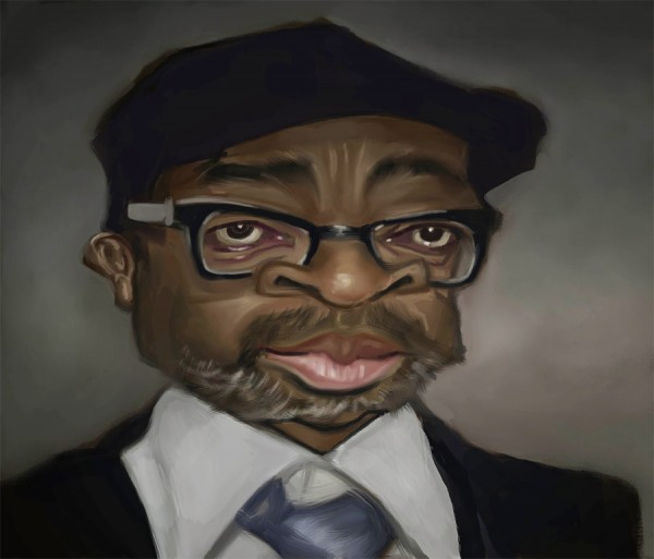 Caricatura de Spike Lee