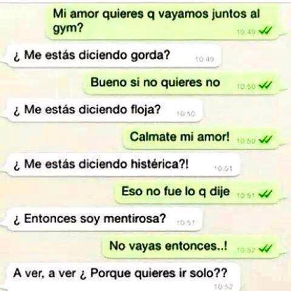 Conversaciones por WhatsApp con tu novia