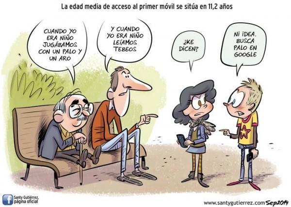 Edad media de acceso al primer móvil