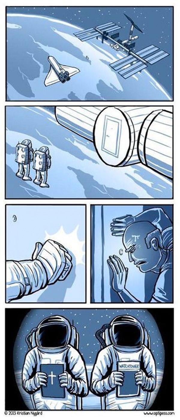 Evangelizando en el espacio