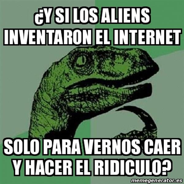 Filosoraptor: aliens e Internet