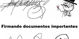 Firmando documentos importantes