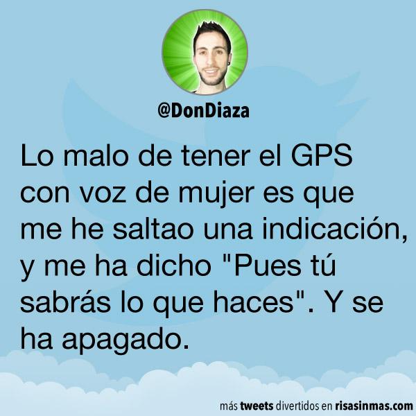 GPS con voz de mujer