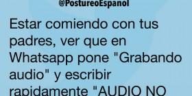 Grabando audio en WhatsApp
