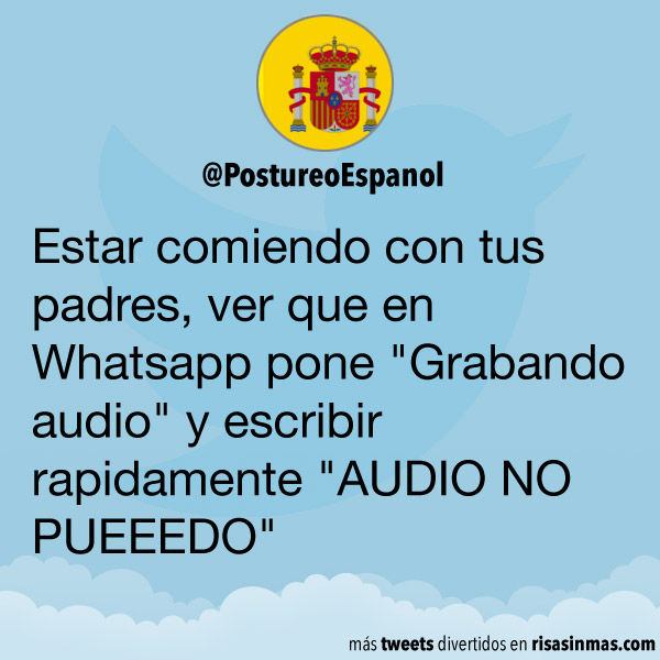 Grabando audio en WhatsApp