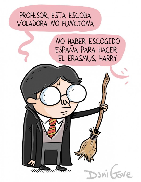 Harry Potter haciendo Erasmus en España