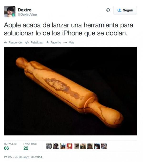 Herramienta de Apple para el problema de los iPhone 6