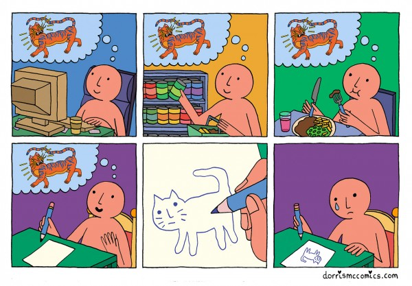 Pensando en dibujar un tigre