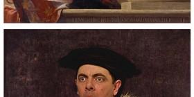 Rowan Atkinson en retratos clásicos
