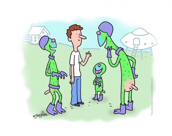 Los extraterrestres se ríen de nosotros